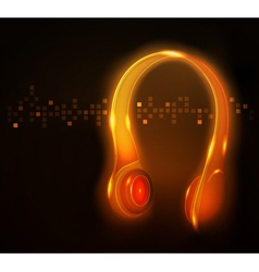 Glowing headphone vector