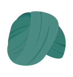 Indian headgear turban icon isometric 3d style vector