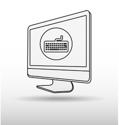 Computer technology design vector