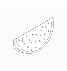 Slice of watermelon icon isometric 3d style vector