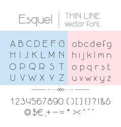 Thin line font vector