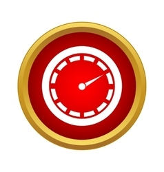 Speedometer icon in simple style vector