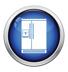 Wide refrigerator icon vector