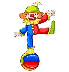 A coloured sketch of a clown vector