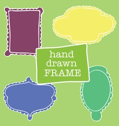 A set of four frames of different shapes vector