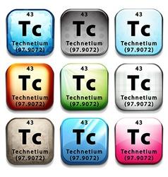 A technetium element vector