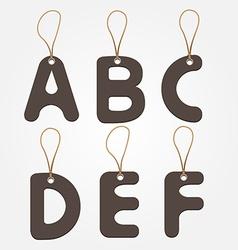 alphabet paper design vector image vector image