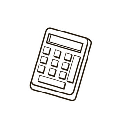 calculator equipment math count outline icon vector image