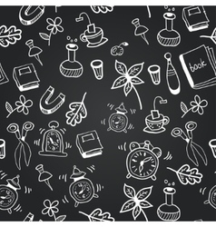 Chalkboard school seamless pattern vector