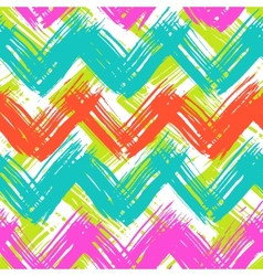 Chevron pattern hand painted with bold vector image vector image