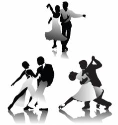 dancing pairs vector image vector image