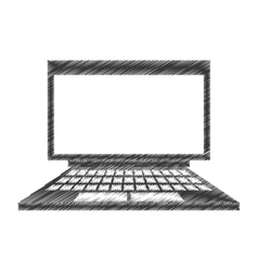 drawing laptop device technology digital vector image vector image