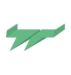 Green paper plane air free fun vector