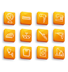 home appliances buttons vector image