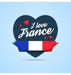 I love France badge vector image vector image