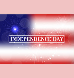 independence day stamp on blurred background vector image