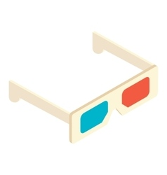 Isometric 3d glasses icon vector image