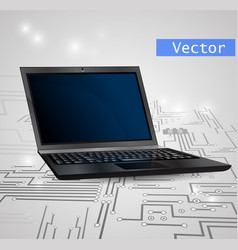 laptop isolated on white background vector image vector image