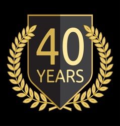 Laurel wreath 40 years vector