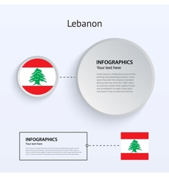 Lebanon country set of banners vector