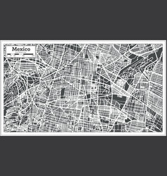 Mexico city map in retro style outline map vector