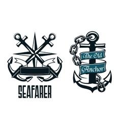 Seafarer marine heraldic emblem and symbol vector image