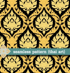 Seamless pattern -thai art vector
