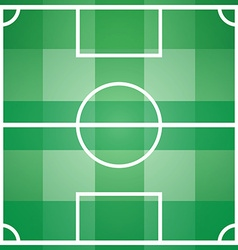 Soccer game field template with all main parts vector