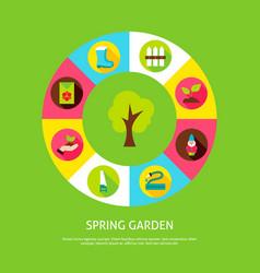 Spring garden concept vector