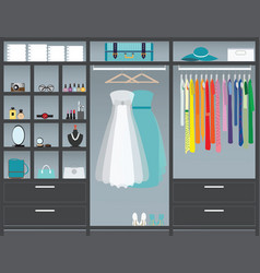 walk in closet10 vector image