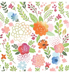 Watercolor seamles floral pattern vector