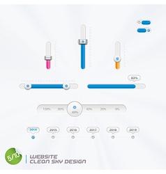 Website Clean Sky Design vector image vector image