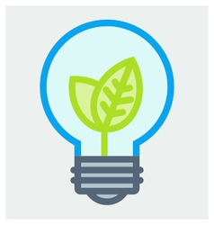 Young plant in light bulb poster vector image vector image