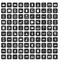 100 adjustment icons set black vector