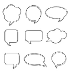 Blank empty white speech bubbles stickers of speec vector