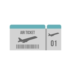 Air ticket icon flat style vector