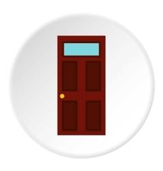 Steel door icon flat style vector