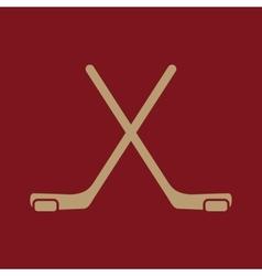 The hockey icon Game symbol Flat vector image