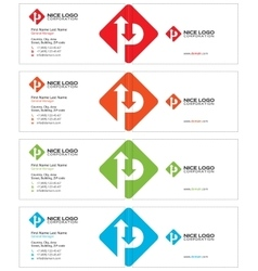 parking business card light vector image