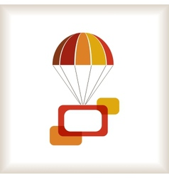 Flying parachute with frames composition vector