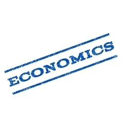 Economics watermark stamp vector