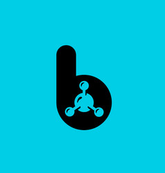 Letter b molecule logo icon design template vector
