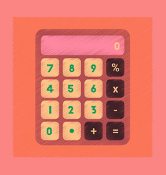Flat shading style icon electronic calculator vector