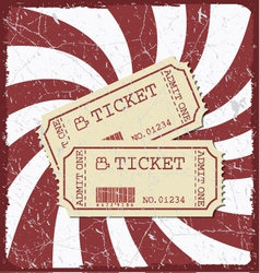 Vintage style movie poster with movie tickets vector