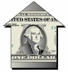 dollar house vector image