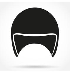 Silhouette symbol of motorbike classic helmet vector image
