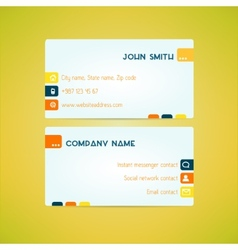 Business card template made in bright clean and vector image