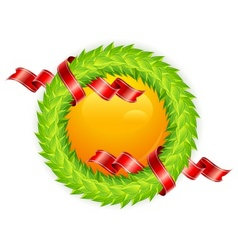 Round wreath vector