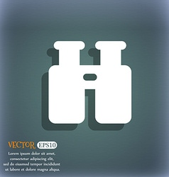 Binocular search find information icon symbol on vector