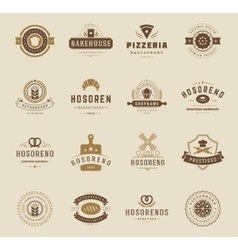 Bakery shop logos badges and labels vector